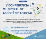 CONVITE: CONFERÊNCIA MUNICIPAL DE ASSISTÊNCIA SOCIAL